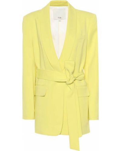 Классический пиджак смокинг из вискозы Tibi