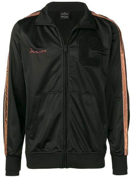 Długa kurtka czarna z paskami Marcelo Burlon County Of Milan