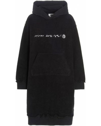 Sukienka - czarna Mm6 Maison Margiela
