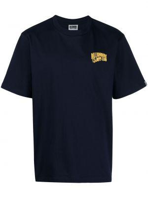 Хлопковая синяя с рукавами футболка Billionaire Boys Club