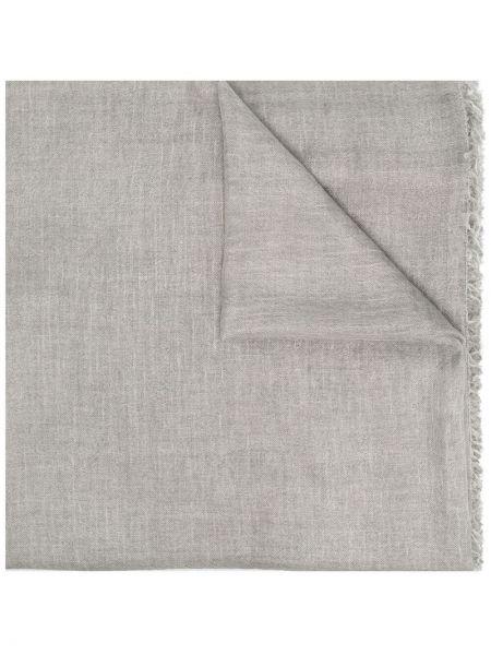 Серый вязаный шелковый шарф Faliero Sarti