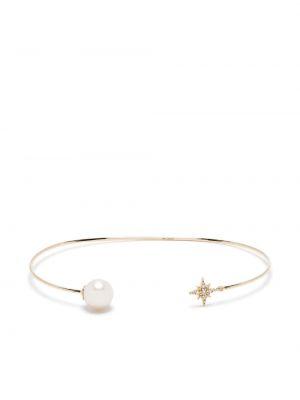 Żółta złota bransoletka perły Mizuki