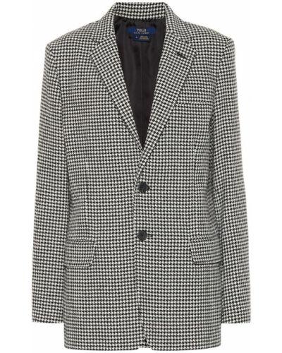 Пиджак шерстяной с узором гусиные лапки Polo Ralph Lauren