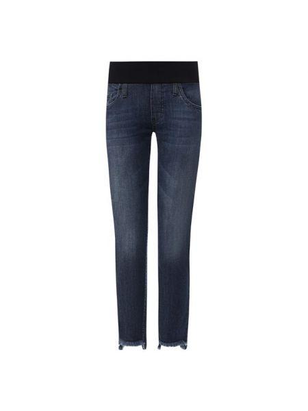 Укороченные джинсы на резинке с бахромой Pietro Brunelli