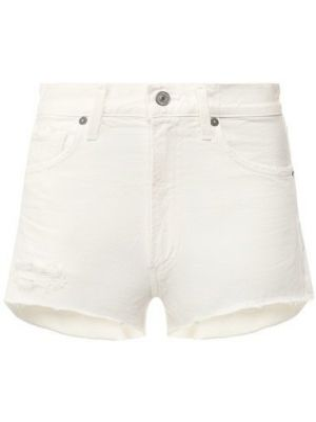 Джинсовые шорты короткие - белые Citizens Of Humanity