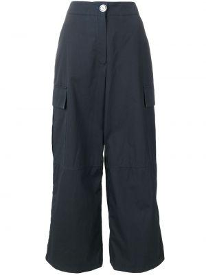 Синие нейлоновые брюки карго с карманами Walk Of Shame