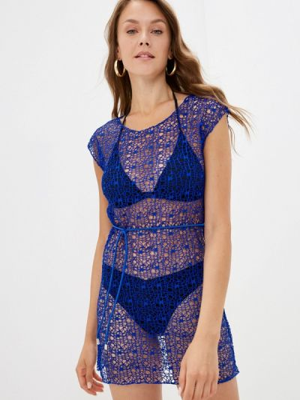 Синее пляжное платье Winzor