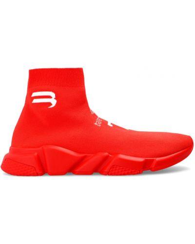 Sneakersy wysokie - czerwone Balenciaga