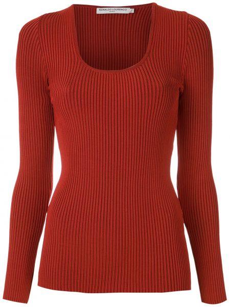 Блузка с вырезом - красная Reinaldo Lourenço