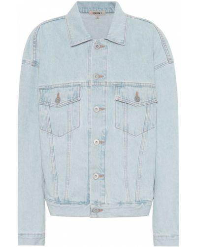 Хлопковая джинсовая куртка - синяя Yeezy