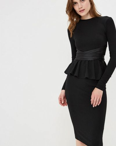 Черное платье футляр Lost Ink.