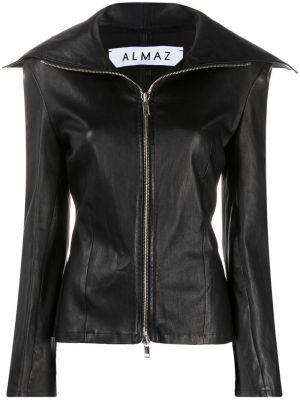Черная кожаная куртка двусторонняя Almaz