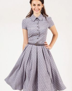 Платье серое платье-рубашка Grey Cat