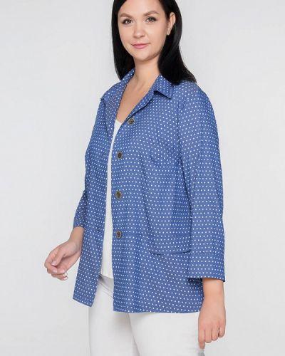 Блузка синяя весенний Лимонти