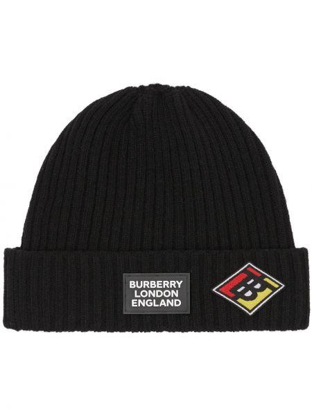 Czapka z logo czarny Burberry
