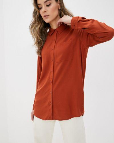 Оранжевая с рукавами блузка Fresh Made