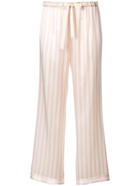 Шелковые брюки - белые Morgan Lane