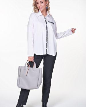Рубашка с длинным рукавом оверсайз с карманами Valentina