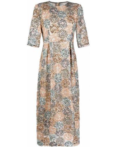 Beżowa sukienka mini krótki rękaw Antonio Marras