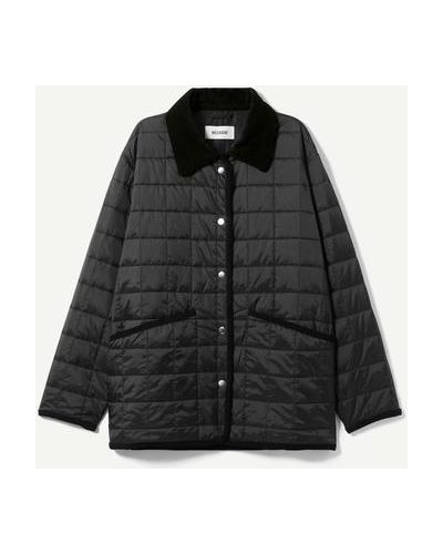 Черная куртка на кнопках Weekday