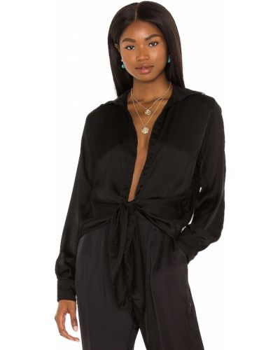 Рубашка с длинным рукавом - черная Indah