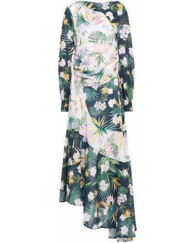 Зеленое платье миди с вырезом с драпировкой Each X Other