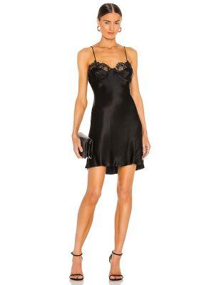 Домашнее кружевное черное платье мини Bardot