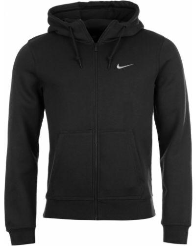 Czarna bluza z kapturem polarowa Nike