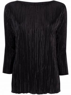 Плиссированная черная блузка из вискозы Charlott