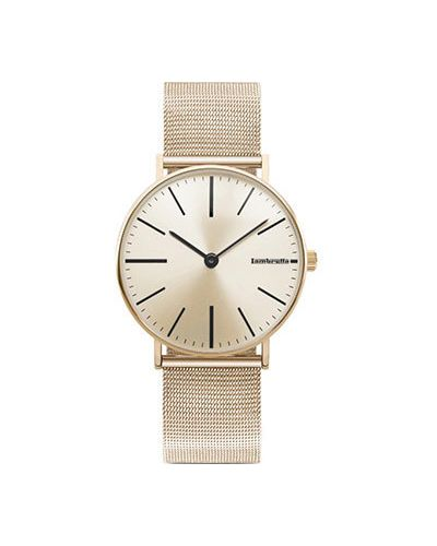 Кварцевые часы с черным циферблатом серебряный Lambretta