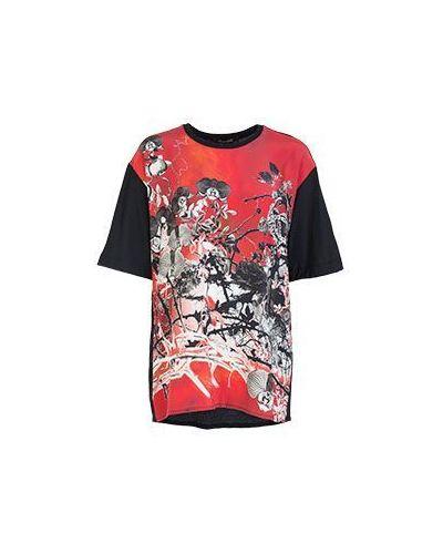 Красная футболка повседневная Roberto Cavalli