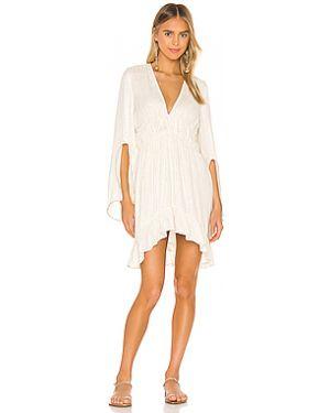 С рукавами платье мини с разрезом айвори Sundress