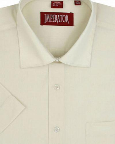 Хлопковая белая рубашка с воротником каляев