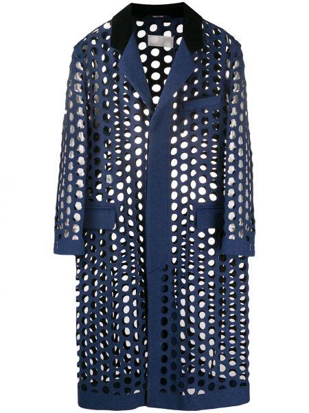 Długi płaszcz wełniany z kieszeniami Maison Margiela