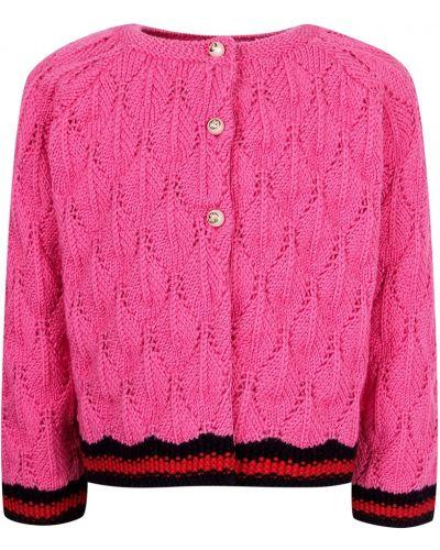 Кардиган шерстяной розовый Gucci Kids