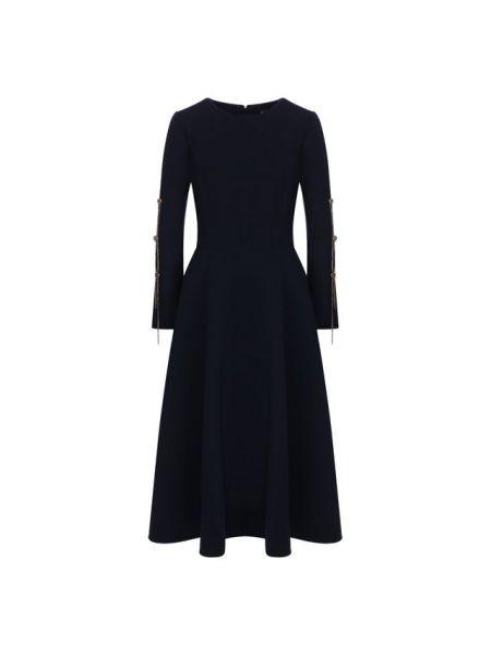 Платье с поясом восточное в рубчик Oscar De La Renta