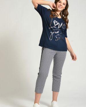 Хлопковые синие брюки Rabe Collection