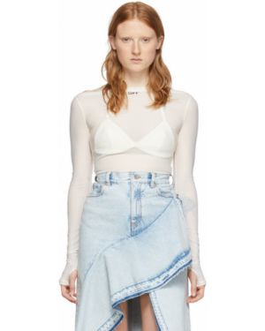 Рубашка с длинным рукавом белая в полоску Off-white