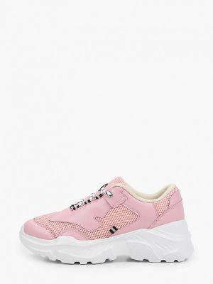 Розовые кожаные кроссовки Escan