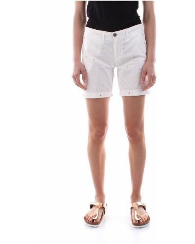 Białe szorty 40weft