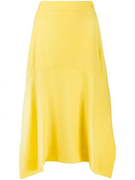 Żółty asymetryczny z wysokim stanem spódnica Vivienne Westwood