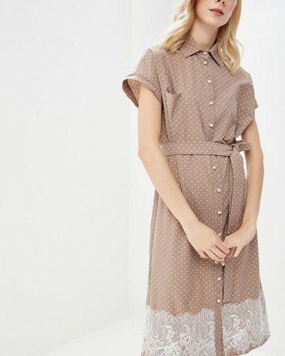 Бежевое платье весеннее Eliseeva Olesya