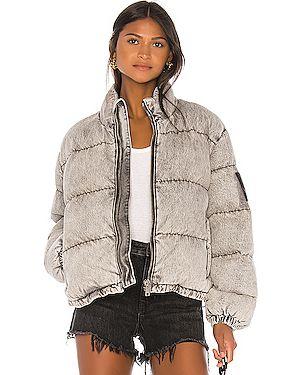 Джинсовая куртка дутая с карманами Denim X Alexander Wang