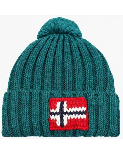 Зеленая шапка осенняя Napapijri