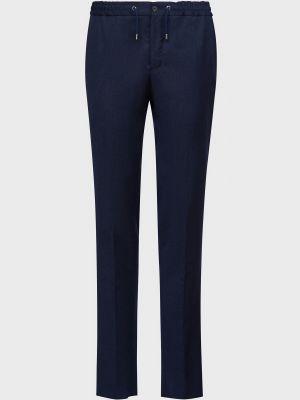 Шерстяные брюки - синие Lab. Pal Zileri