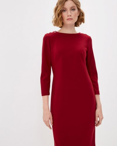 Повседневное красное платье Lauren Ralph Lauren