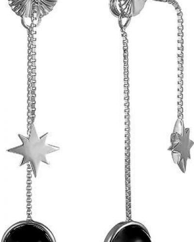 Серебряные серьги с кварцем позолоченные Element47 By Jv