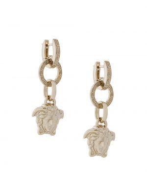 Światło biznes kolczyki ze sztyftem metal złoto Versace