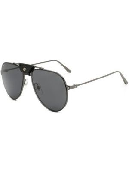 Черные солнцезащитные очки металлические с завязками Cartier