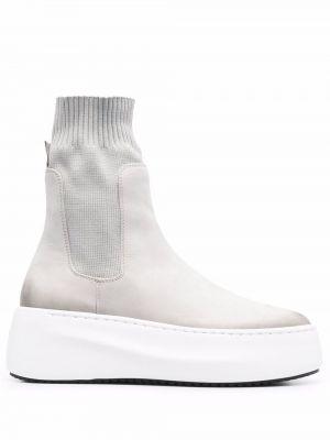 Кожаные ботинки - серые Vic Matie